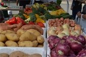 potatoes, onions and other vegetables at the Gardens Summer GreenMarket