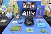 Handmade craft items at the Gardens GreenMarket