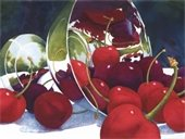 """""""Cherries in the Landscape"""" by Sue Archer"""