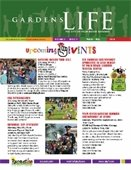 Front cover of the Gardens Life brochure
