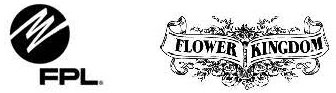 Florida Power and Light and Flower Kingdom logos