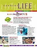 The front cover of the June - August Gardens Life brochure