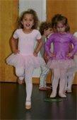 Little dancers in ballet apparel