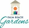 City of Palm Beach Gardens logo with bridge tower and art
