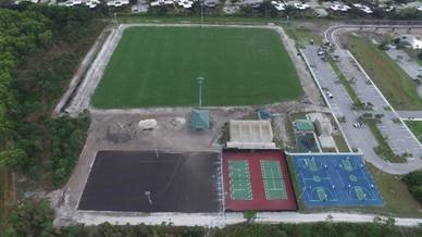 Aerial view of Joseph R. Russo Athletic Complex