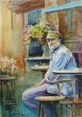 """Zoltan"", watercolor painting by Marilyn Liedman"