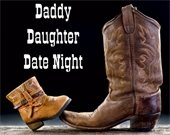 A large boot and small boot for Daddy Daughter Date Night