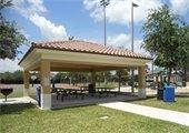 A picnic pavilion at Mirasol Park