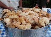 A bucket of shrimp