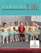 The front cover of the Fall Gardens Life brochure