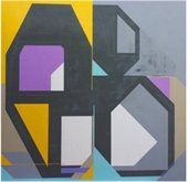 """""""Contradiction"""" abstract painting by William Finlayson"""