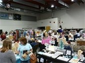 Shoppers and vendors at the Holiday Bazaar