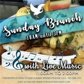 Sunday Brunch 10am-3pm with live music at The Dancing Crane restaurant