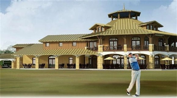 Conceptual Rendering of Golf Clubhouse