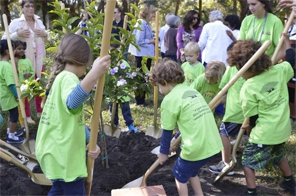 Riverside Youth Children with Shovels