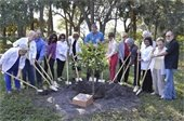 Gardens Woman's Club and Councilmember on Arbor Day