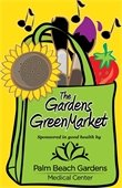 The Gardens GreenMarket sponsored in good health by Palm Beach Gardens Medical Center logo