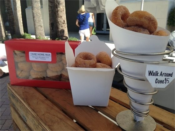 Packages of delicious cider donuts