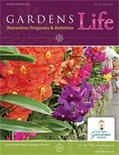 Orchids on the cover of the Gardens Life brochure
