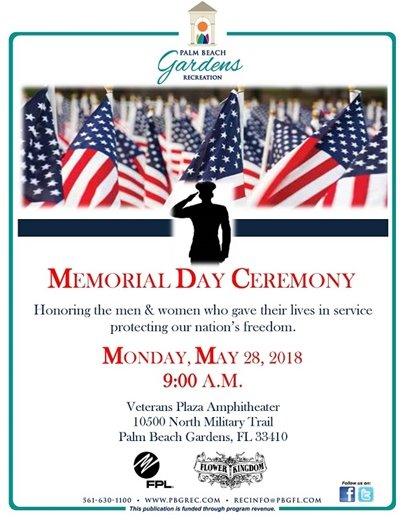 Palm Beach Gardens Memorial Day Ceremony