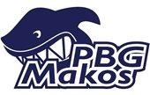 PBG Makos logo with an illustrated shark