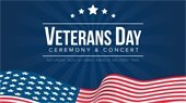veterans day ceremony and concert event