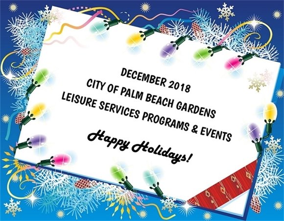 December 2017 Recreation Programs and Events - Happy Holidays!