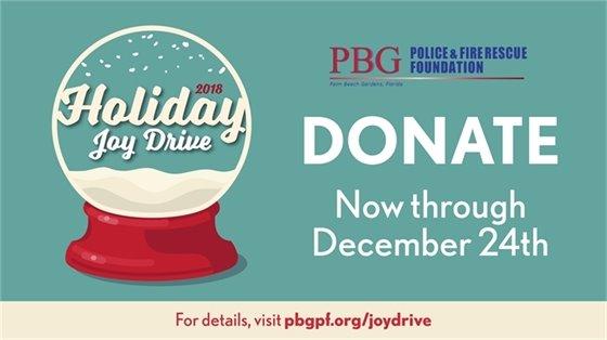 2018 holiday joy drive: donate now thru december 24th