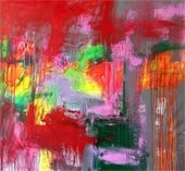 """""""Obscura"""" abstract painting by Mirtha Moreno"""
