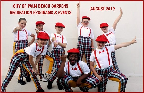 City of Palm Beach Gardens Recreation Programs and Events, August 2019.