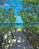 Painting of a walkway at the beach by Scott Henderson.