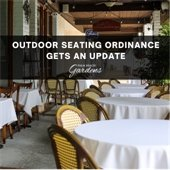 outdoor seating use plan