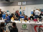 Vendors and guests at the Health & Wellness Fair