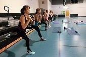 Women in a fitness class.