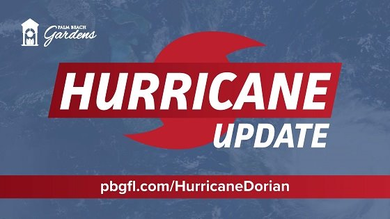 Palm Beach Gardens Hurricane Update, pbgfl.com/HurricaneDorian