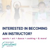 Interested in becoming an instructor? sports, art, dance, cooking and more.