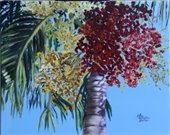"""A Christmas Palm"" painting by Sue Appleton Dayton."