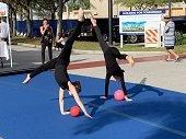 Rhythmic Gymnastics demo at The Gardens GreenMarket.