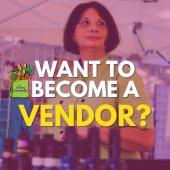 Want to become a vendor? GreenMarket logo. Photo of GreenMarket vendor.