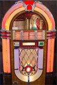 A retro jukebox.