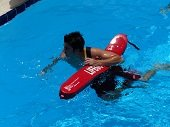 Water Safety Instructor in pool.
