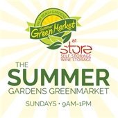 gardens greenmarket every sunday 8am to 1pm.