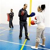 Photo of self defense class.