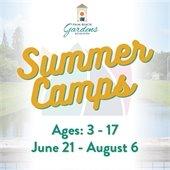 Palm Beach Gardens Summer camps. Ages 3 to 17. June 21 thru August 6.