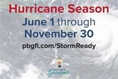 Hurricane Season June 1 through November 30.