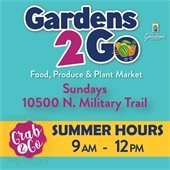 Gardens to Go summer hours. Sundays from 9 a.m. to 12 p.m.