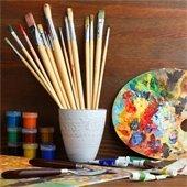 Photo of art supplies.