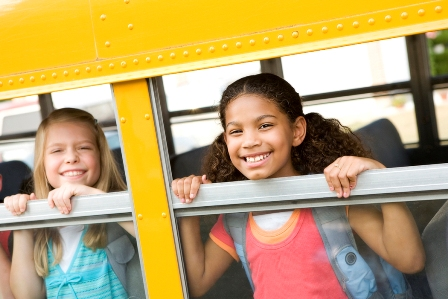 Girls in School Bus