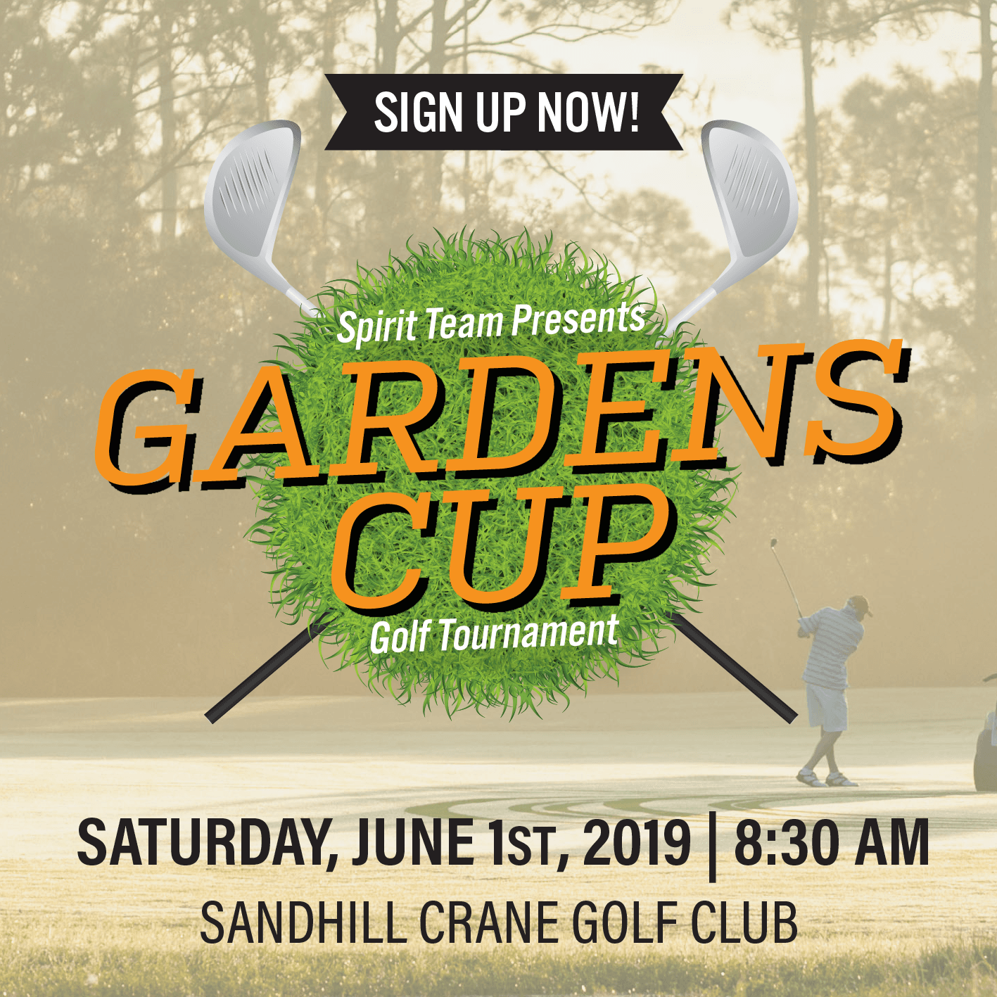 Gardens Cup Golf Tournament, Saturday, June 1, 2019 at 8:30 a.m.