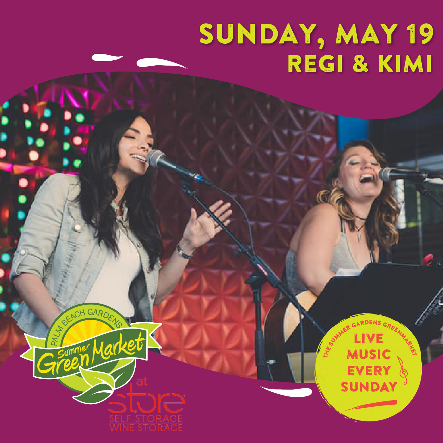 Regi and Kimi- Featured artists for the Sunday, May 19th GreenMarket.